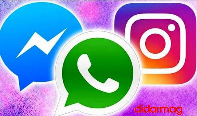 طرح ادغام فیسبوک با اینستاگرام و پیام رسان واتساپ عملی می شود