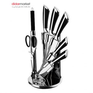 سرویس چاقوی آشپزخانه دلمونتی مدل DL1540 چاقوی آشپزخانه مدل DL1540 سرویس چاقوی آشپزخانه 9 پارچه دلمونتی مدل DL1540