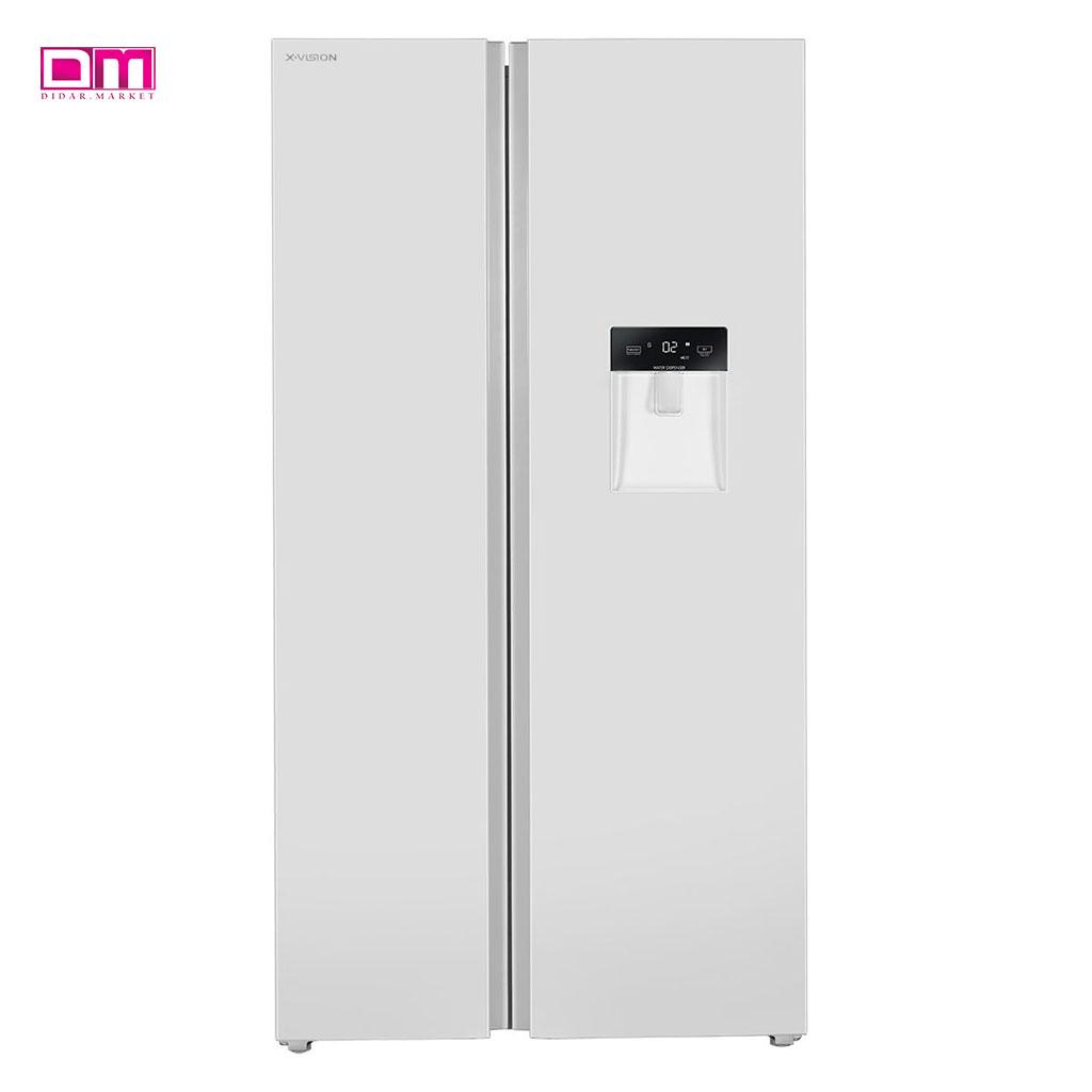 یخچال فریزر ساید بای ساید ایکس ویژن مدل TS665-AED/AGD/AMD