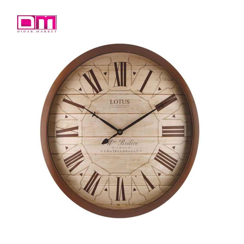ساعت دیواری لوتوس مدل W-8833-EDGEWOOD