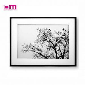 تابلو لوتوس طرح درخت و پرنده ها مدل WA-99104